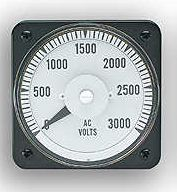 103221AMCF7DCD - AB-40 3 PHASE 3 WIRE WATT METER Rating- 0-375 CWScale- 0-1200Legend- AC MEGAWATTS - Product Image